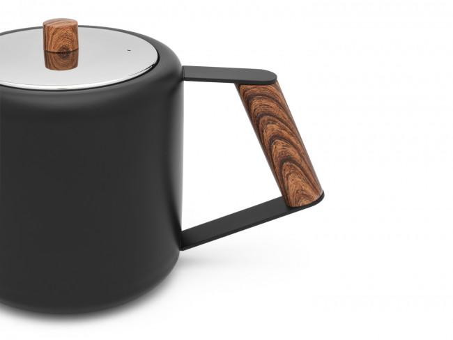 Theepot Duet Design Boston 1,1L mat zwart