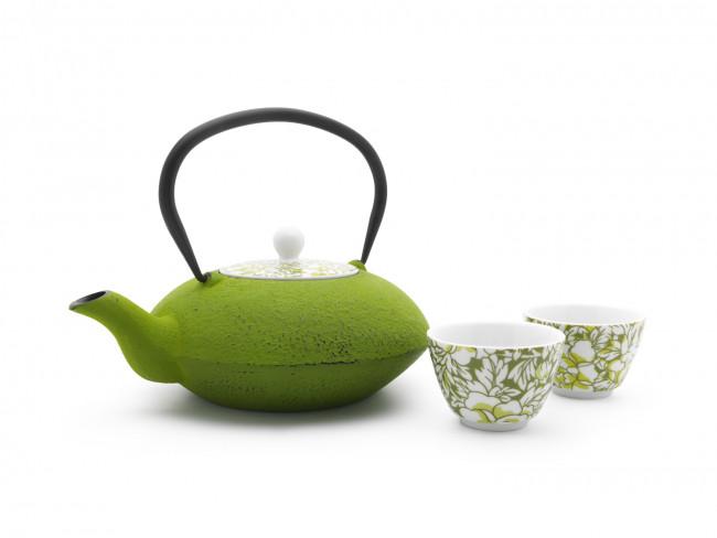 Theepot Yantai 1,2L, groen, porseleinen deksel