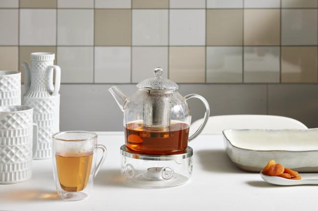 Glazen Minuet® Santhee theepot 1.2L met filter
