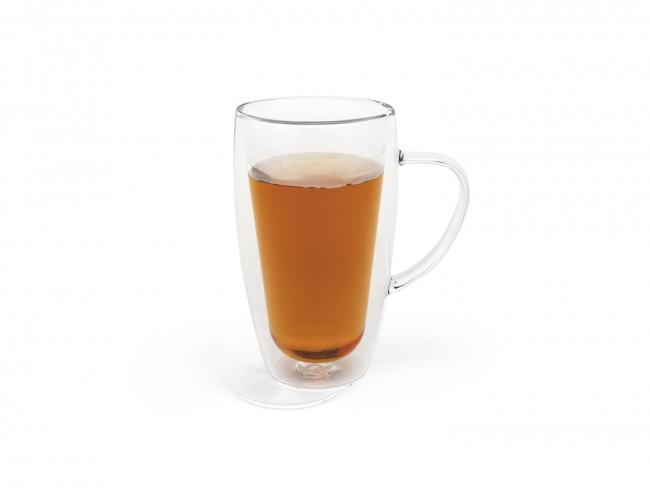 Dubbelwandig glas koffie/thee 295ml s/2