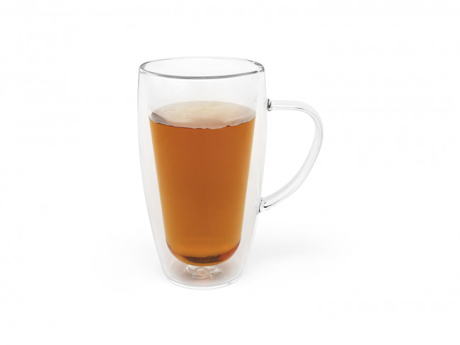 Dubbelwandig glas koffie/thee 320ml s/2