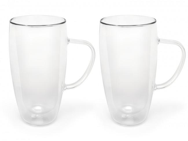 Dubbelwandig glas cappuccino/latte macchiato 400ml s/2