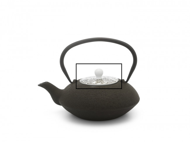 Deksel voor theepot Yantai 157001 zwart/bruin