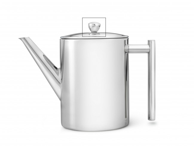 Knop voor theepot Minuet® Cylindre 6151MS glanzend