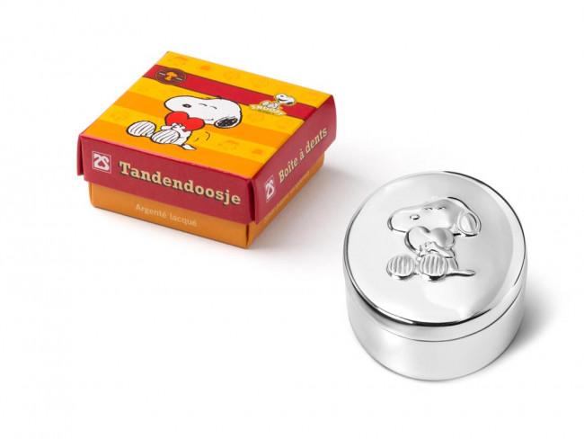 Tanden- en haarlokdoosje Snoopy 5.5x4.5cm, vz./l.