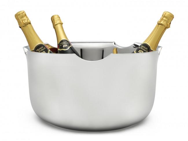 Champagneschaal Equip dubbelw. rvs 39 cm