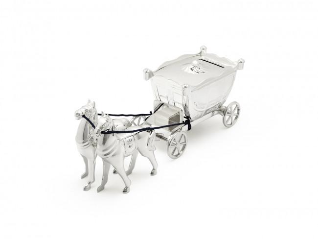 Spaarpot Koets met 2 paarden vz/l