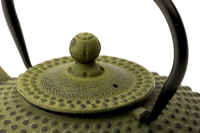 Theepot Xilin 1,25L gietijzer groen