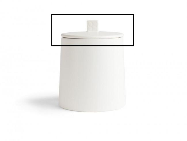 Deksel met siliconen ring voor voorraadpot Lund LD011W