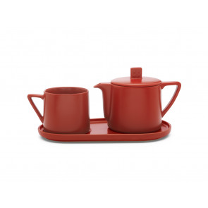 Tea-for-one set Lund rood
