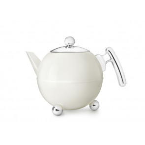 Theepot Bella Ronde 1,2L, roomwit